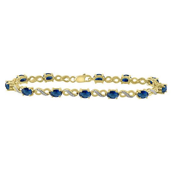 10K Gold Over Silver 7.25 Inch Link Bracelet