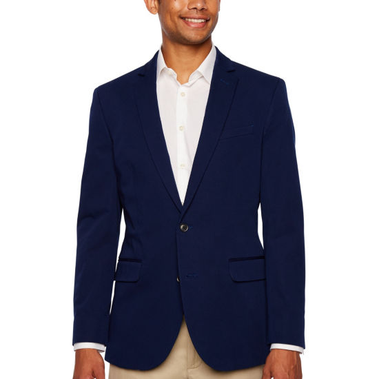 JF J.Ferrar 360 Everyday Stretch Stretch Navy Classic Fit Sport Coat