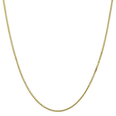 10K Gold 18 Inch Solid Box Chain Necklace