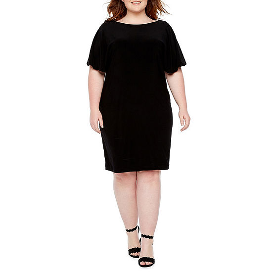 Blu Sage Short Sleeve Party Dress - Plus
