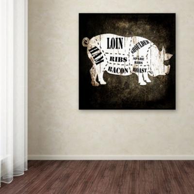 Trademark Fine Art LightBoxJournal Butcher Shop IGiclee Canvas Art
