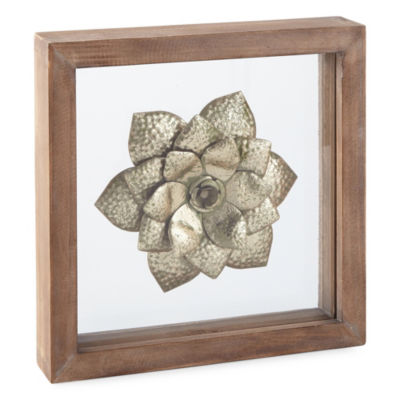 JCPenney Home Super Bed Floral Metal Wall Art