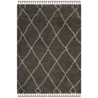 Safavieh Moroccan Fringe Shag Collection Atanas Geometric Square Area Rug