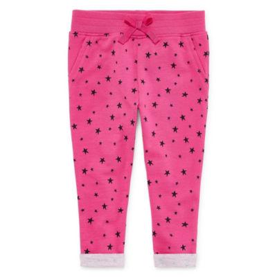 Okie Dokie Printed Pull-On Jogger Pants - Baby Girl NB-24M
