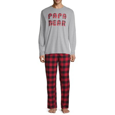 North Pole Trading Company Plaid Papa Bear 2 Piece Set -Men's