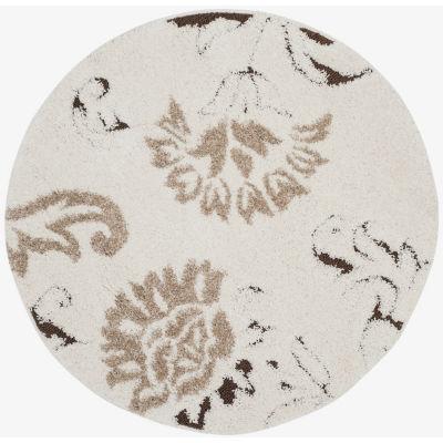 Safavieh Shag Collection Calanthia Floral Round Area Rug