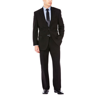 J.M. Haggar Premium Stretch Sharkskin Classic Fit Black Suit Jacket