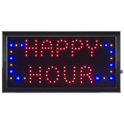 Lavish Home Neon LED Happy Hour Sign with Animation