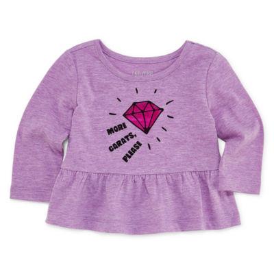 Okie Dokie Graphic Peplum T-Shirt-Baby Girl NB-24M