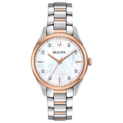 Bulova Womens Two Tone Bracelet Watch-98p183