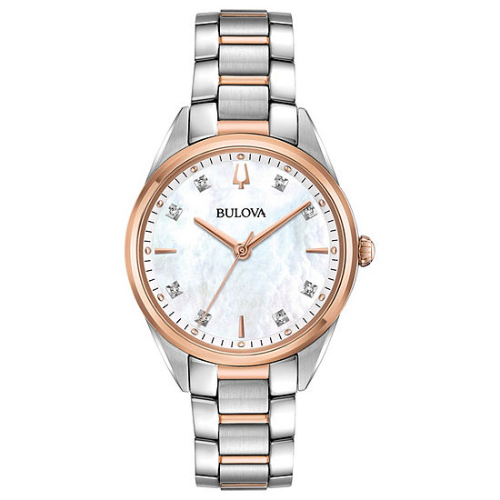 Bulova Sutton Womens Two Tone Bracelet Watch-98p183