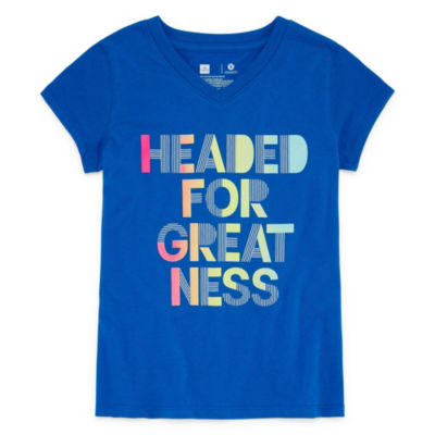 Xersion Short Sleeve Graphic Tee - Girls 4-16 and Plus