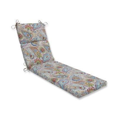 Pillow Perfect Gilford Festival Patio Chaise Lounge Cushion