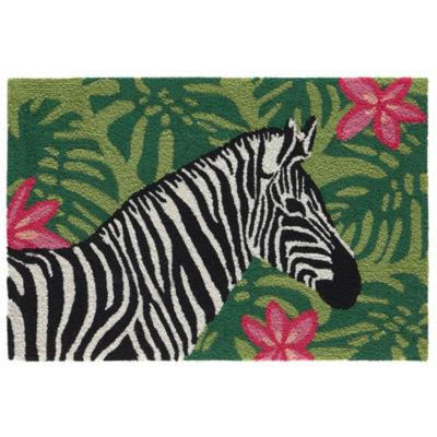 Liora Manne Frontporch Zebra Garden Indoor/Outdoor Rug