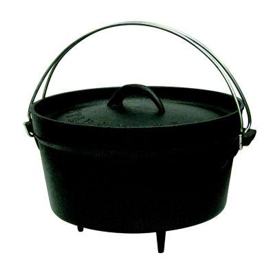 Stansport 4-Quart Cast Iron Camping Dutch Oven