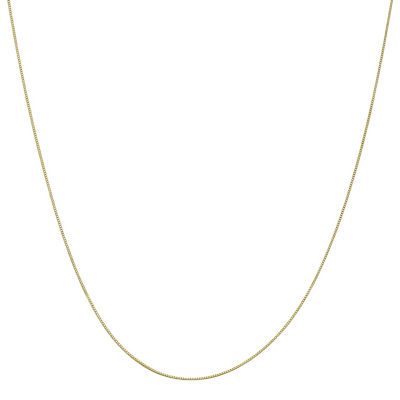 10K Gold 14 Inch Solid Box Chain Necklace