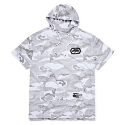 Ecko Unltd Short Sleeve French Terry Camouflage Hoodie-Big and Tall