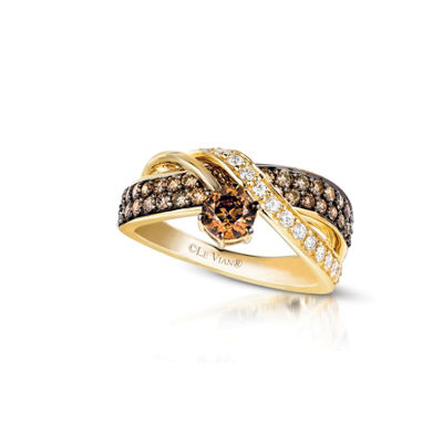 Grand Sample Sale™ by Le Vian® Chocolatier® Chocolate & Vanilla Diamonds™ Ring in 14k Honey Gold™