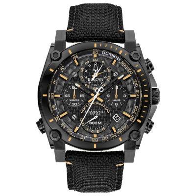 Bulova Mens Black Strap Watch-98b318