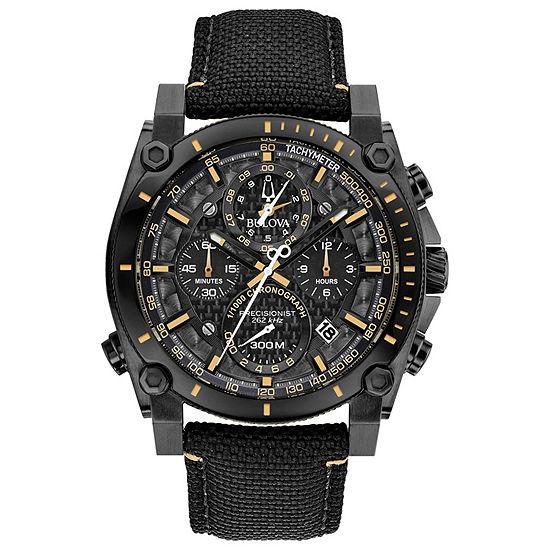 Bulova Precisionist Mens Black Strap Watch-98b318