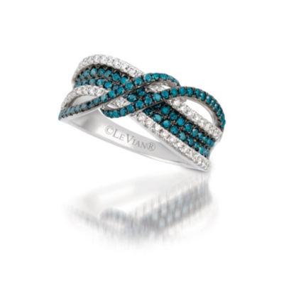 Grand Sample Sale™ by Le Vian® Exotics® Blueberry Diamonds® and Vanilla Diamonds® Ring in 14k Vanilla Gold®