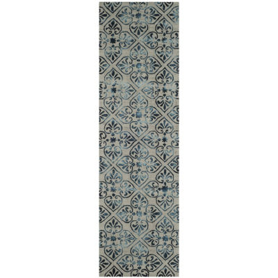 Safavieh Dip Dye Collection Jacinda Damask Runner Rug