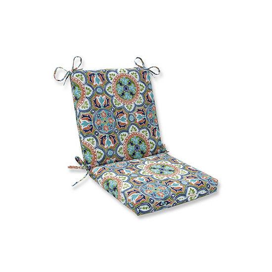 Pillow Perfect Lagoa Tile Flamingo Squared Corners Patio Chair Cushion
