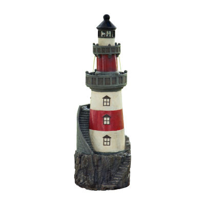 Peaktop Outdoor Rotating Solar Powered Light House Fountain