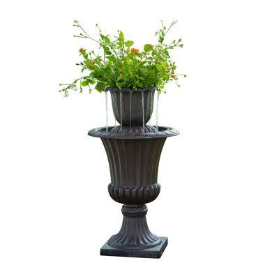 Peaktop Outdoor Urn Flower Pot Water Fountain