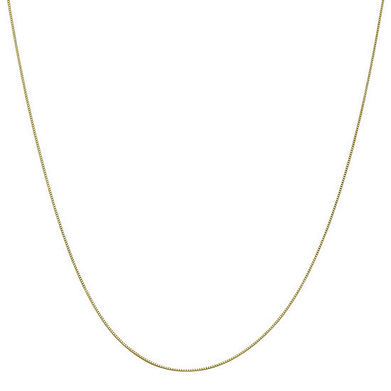 "10K Gold 14-24"" Solid Box Chain Necklace"