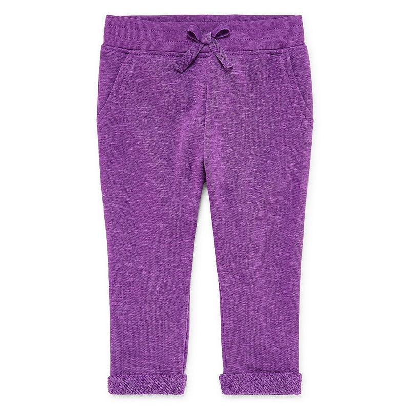 Okie Dokie Printed Pull-On Jogger Pants, Girls, Malibu Purple, Size 3 Months