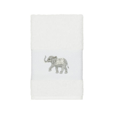 Linum Home Textiles 100% Turkish Cotton Quinn Embellished Towel Collection