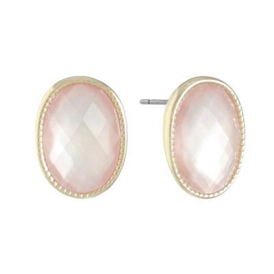Monet Jewelry Pink 16mm Stud Earrings