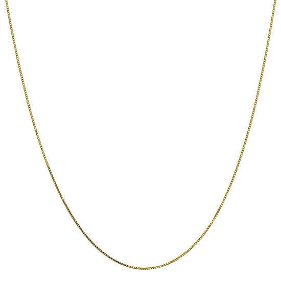 """10K Gold 16-24"""" Solid Box Chain Necklace"""