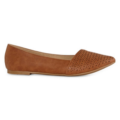 Pop Womens Richard Ballet Flats Slip-on Closed Toe