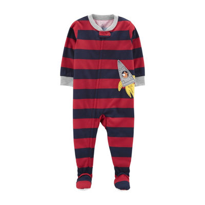 Carter's Boys Jersey One Piece Pajama Long Sleeve