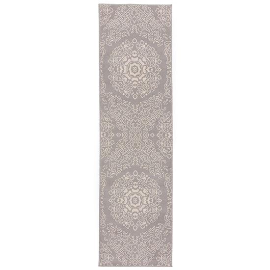 World Rug Gallery Transitional Medallion Design Floral Runner Rug