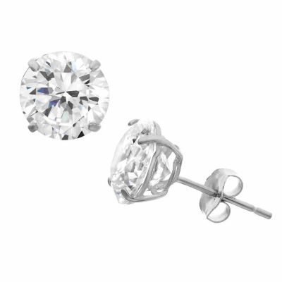 Diamonart 1 1/2 CT. T.W. White Cubic Zirconia Sterling Silver Round Stud Earrings