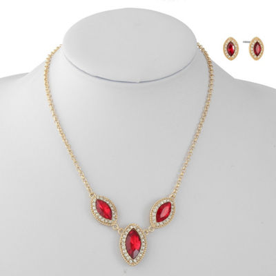 Monet Jewelry Red Gold Tone 2-pc. Jewelry Set