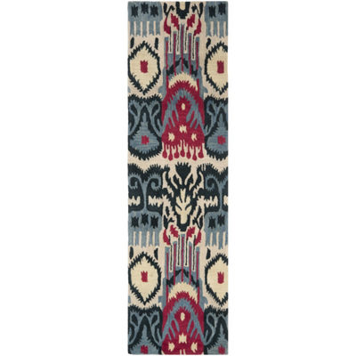 Safavieh Ikat Collection Eirann Geometric Runner Rug