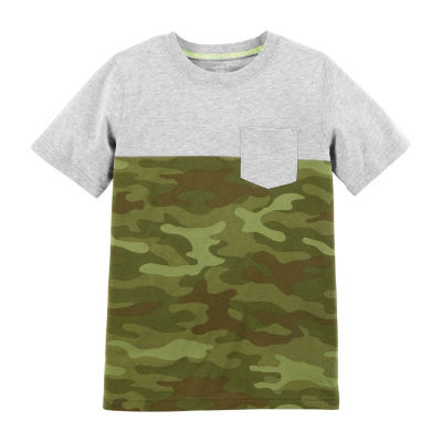 Carter's Boys Crew Neck Short Sleeve Graphic T-Shirt Preschool / Big Kid