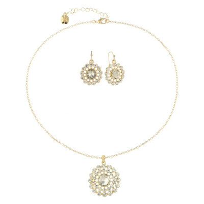 Monet Jewelry Clear Gold Tone 2-pc. Jewelry Set