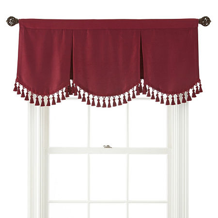 JCPenney Home Supreme Rod-Pocket Frontenac Valance, One Size , Red