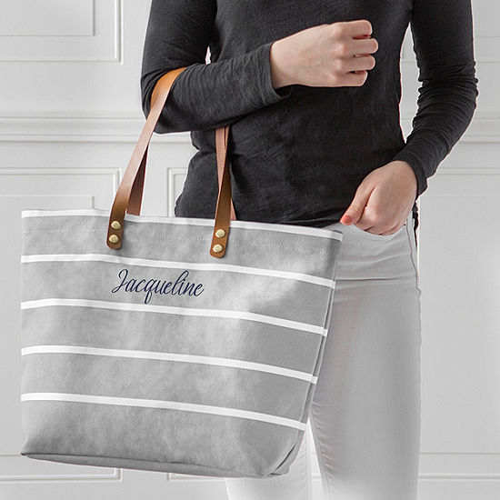 Cathy'S Concepts Personalized Oversized Striped Tote