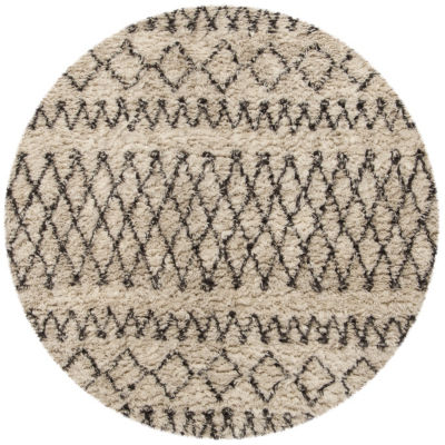Safavieh Casablanca Collection Stephanie GeometricRound Area Rug