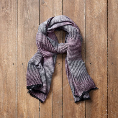 Tickled Pink Ridge Oblong Ombre Scarf
