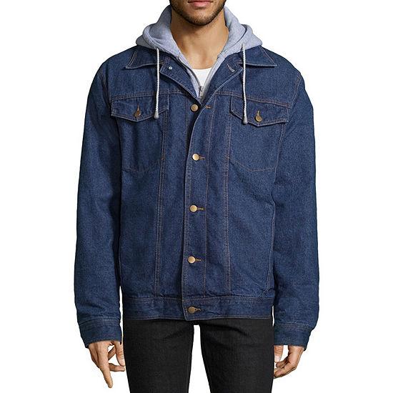 Victory Fleece Lined Denim Jacket with Hood