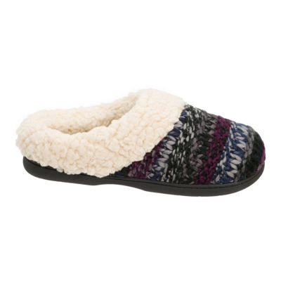 Dearfoams Chunky Knit Clog Slippers