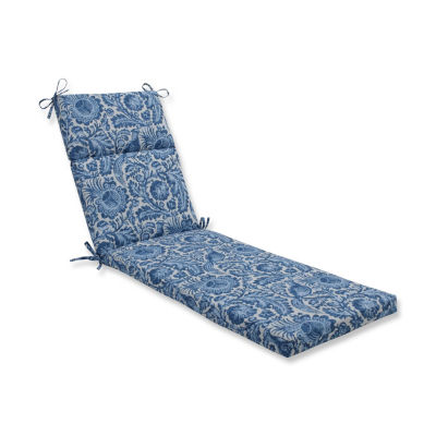 Pillow Perfect Tucker Resist Azure Patio Chaise Lounge Cushion