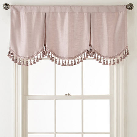 JCPenney Home Supreme Rod-Pocket Frontenac Valance, One Size , Pink